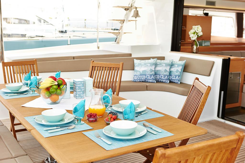 Victoria 67 luxury catamaran LIR - Photo credit LIR Yacht