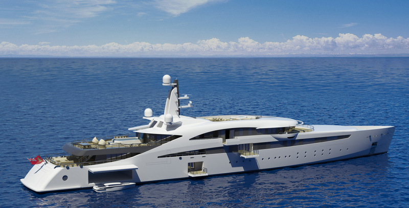100m super yacht A400 design by The A group