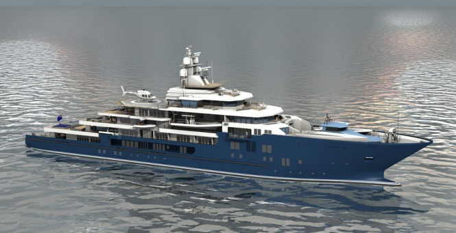 116m Kleven Expedition Yacht Support Vessel