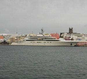 Photos of impressive 162m motor yacht ECLIPSE by Blohm & Voss in Bermuda