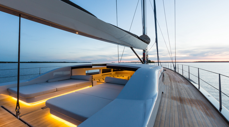 Aboard WinWin superyacht - Photo by Jeff Brown SYM