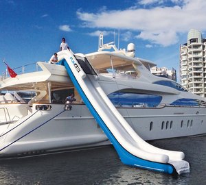 New FunAir Adjustable Yacht Slide at a price not yet seen in yacht slide market
