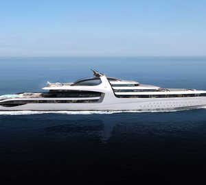 Impressive 145m motor yacht X-FORCE concept unveiled by Admiral Yachts