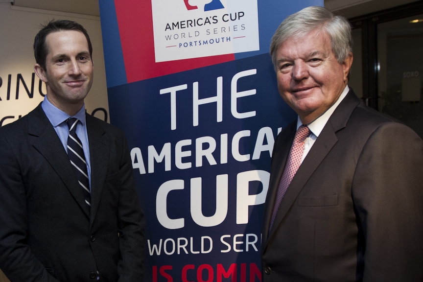 Announcement of America's Cup World Series Portsmouth, 2015 and 2016 in London England. Photo by Ian Roman