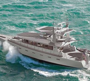 Launch of Dashew FPB97 motor yacht ICEBERG at Oceania Marine