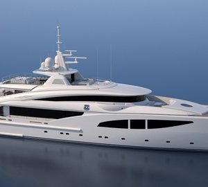 ISA 66M motor yacht ROUTE 66 under construction
