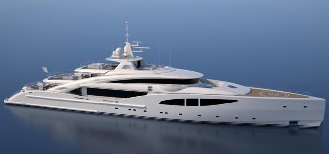 ISA 66M mega yacht ROUTE 66 concept design