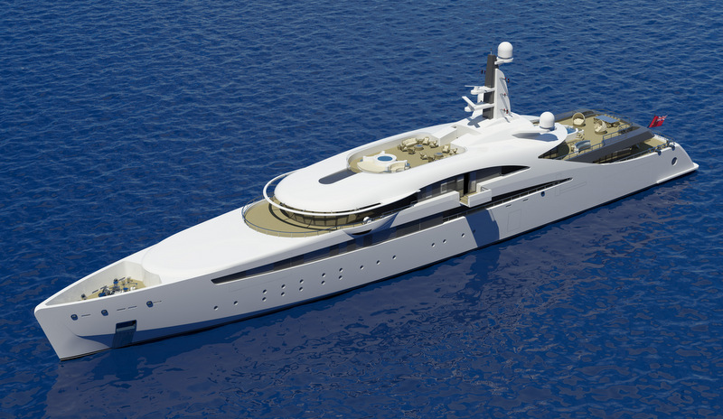 Latest 100m mega yacht A400 design by The A group