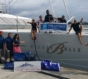 Delivery of supplies to St. Maarten aboard sailing yacht NECKER BELLE in partnership with YachtAid Global