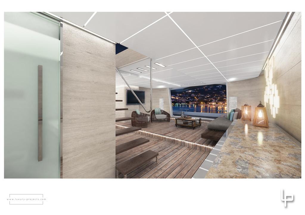 Mega yacht Route 66 - Interior