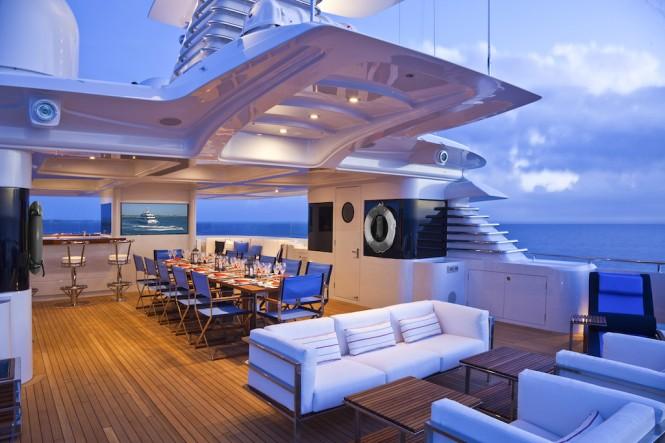 Motor yacht VICTORIA DEL MAR SunDeck- Photo by Jim Raycroft