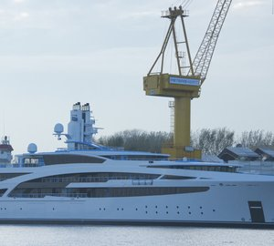 New 101m motor yacht V853 launched at Kusch Yachts