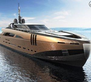 New 50m modern classic motor yacht THE BELAFONTE design by Federico Fiorentino