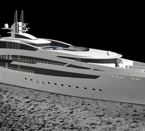 Rendering of Vega Yachts V853 super yacht Dynasty launched at Kusch Yachts