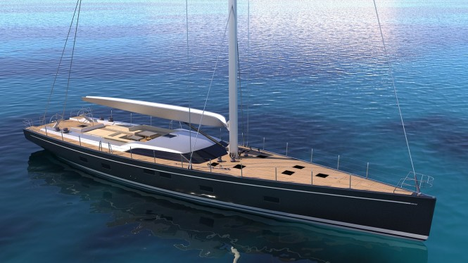 Rendering of new sailing yacht SW 102#04 - Courtesy of Southern Wind Shipyard