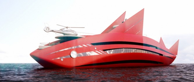 Super yacht Red Shark concept