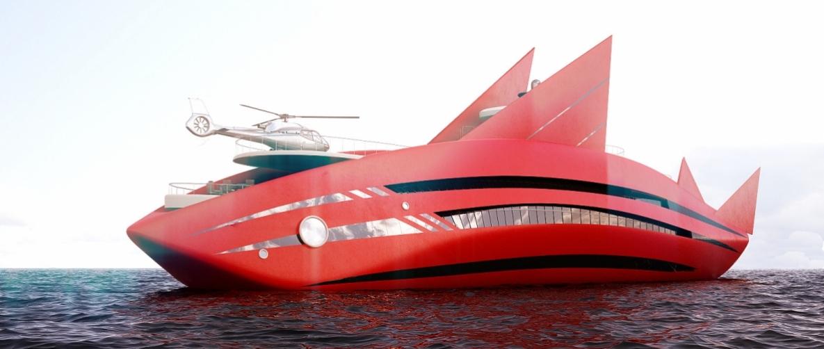 Super Yacht Red Shark Concept Yacht Charter Amp Superyacht