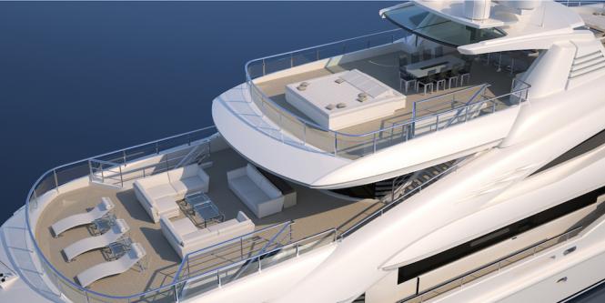 Super yacht Route 66 - Decks