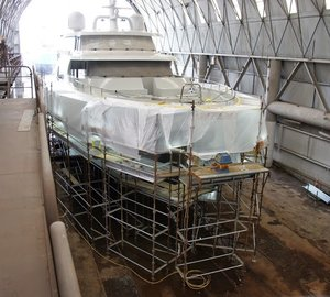 Oceania Marine working on refit of 31,5m motor yacht BLACK PEARL