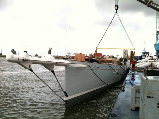 46m Royal Huisman superyacht Elfje (Project 392) on the water - Image credit to Doyle Sailmaker Midwest