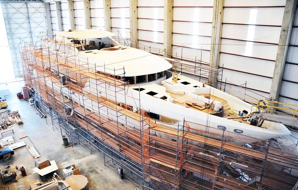 47m Super Yacht Bebe Under Construction