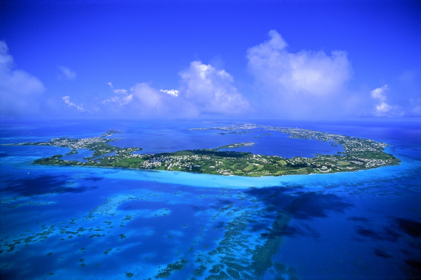 Areal view of Bermuda. Photo by Roland Skinner/picturesquebermuda.bm