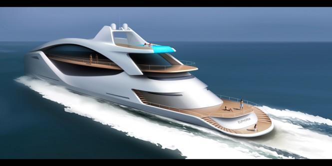 Euphoria Yacht Concept - aft view