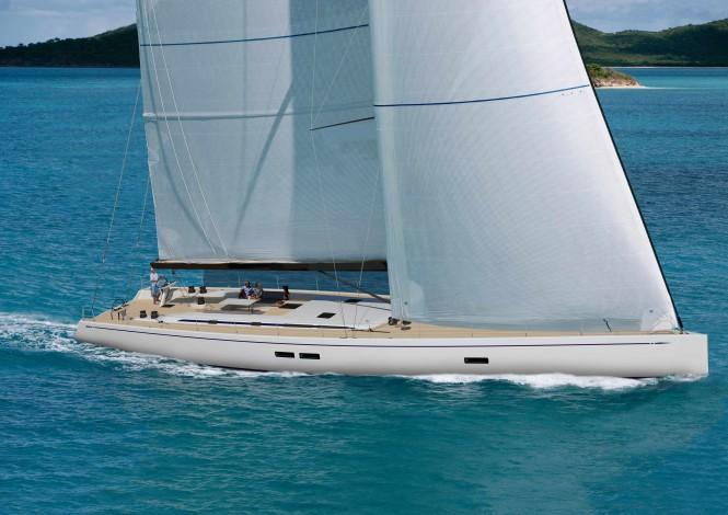 First super yacht Swan 95 by Nautor's Swan