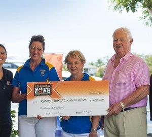 Gold Coast International Marine Expo donates $17,000 to four beneficiary charities