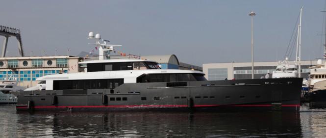 Luxury motor yacht My Logica on the water