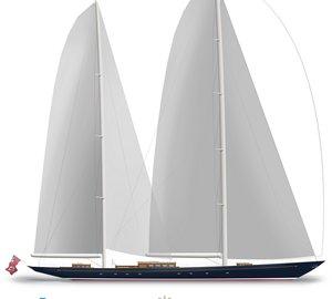New 56m sailing yacht AQUARIUS by Dykstra Naval Architects and Royal Huisman