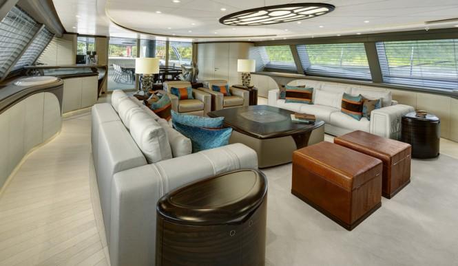 Luxury yacht MONDANGO 3 - Saloon Image by Chris Lewis
