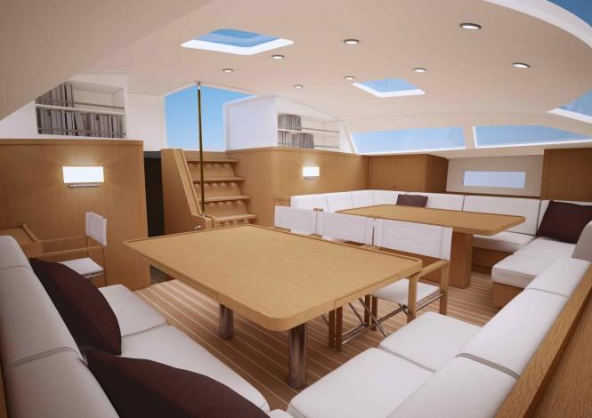 Luxury yacht Swan 95 - Interior