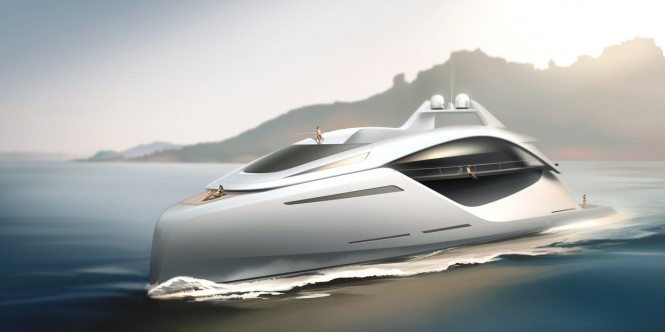 New 70m mega yacht Euphoria concept by Andrey Gusev