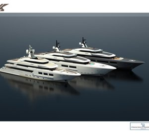 New 72m and 80m mega yacht projects by CRN and Francesco Paszkowski Design