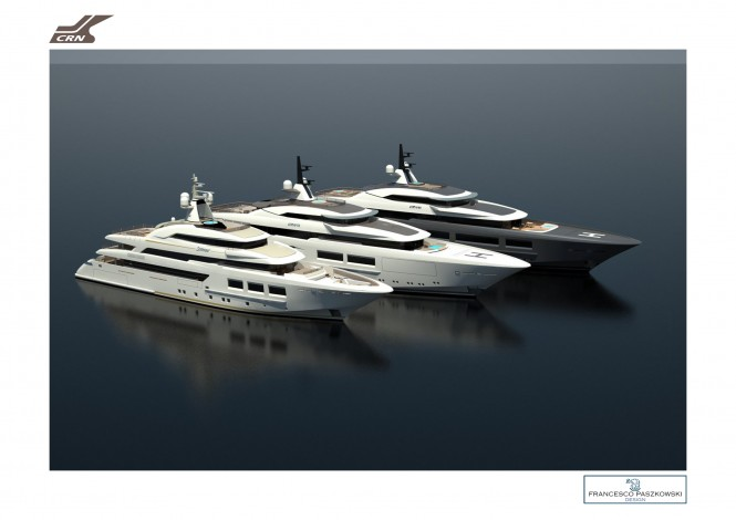 New Mega Yacht Designs by CRN and Francesco Paszkowski