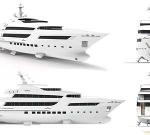 Video and photos of 47m motor yacht BEBE under construction at VOS Marine