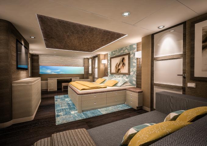 SARP46 superyacht - Master room