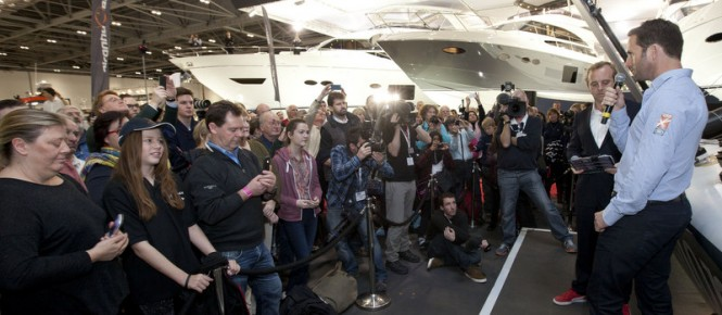 Sir Ben Ainslie at the London Boat Show 2014
