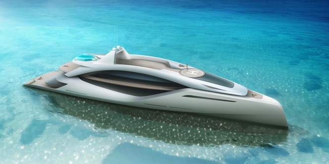 Superyacht Euphoria concept from above