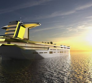 Tanker-based 280m mega yacht Imāra concept by MOTION CODE: BLUE
