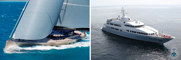 The newly launched Dubois-designed Escapade and the Feadship-built motor yacht Samax join the Rendezvous fleet
