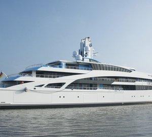 Sea trials for 101m motor yacht I DYNASTY (V853)