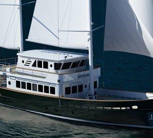 New 27m motor sailer yacht SVETLANA nearing completion at AvA Yachts