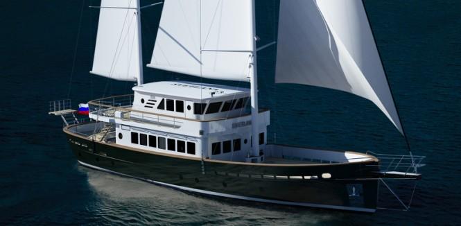 27m motor sailer yacht Svetlana by AvA Yachts