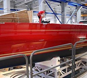 New Baltic 116 Custom sailing yacht DORYAN in Palma de Mallorca for sea trials