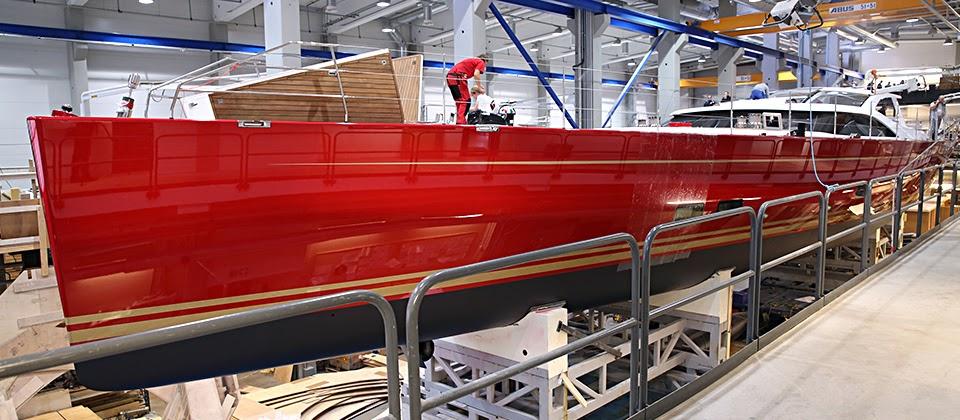 Baltic 116 Custom super yacht Doryan at RSB Rigging in Palma de Mallorca, Spain - Image credit to RSB Rigging