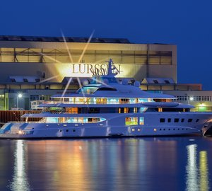 New 104m motor yacht QUANTUM BLUE delivered by Lurssen