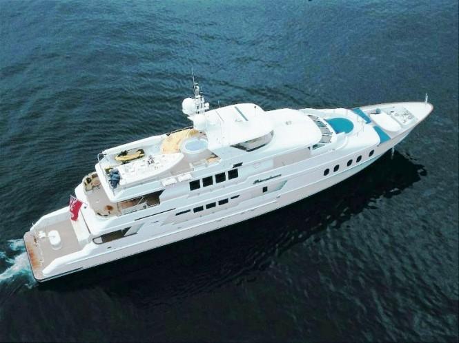 Luxury yacht Match Point (ex Primadonna) - From Above
