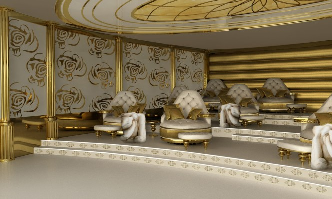 Mega yacht LA BELLE - Cinema Deck